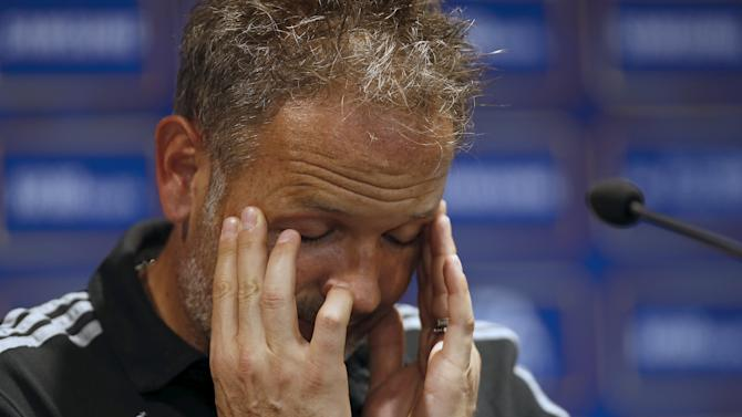 AC Milan coach Sinisa Mihajlovic attends a news conference ahead of a friendly soccer match against Real Madrid in Shanghai