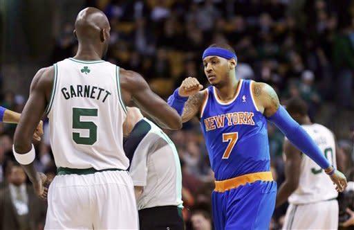 Anthony's 28 points lead Knicks over Celts, 89-86