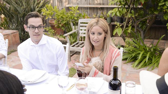 IMAGE DISTRIBUTED FOR TALENT RESOURCES - Actress Ashley Tisdale, right, and her husband, Christopher French celebrate Tisdale's 30th Birthday at the JustFab House Presented by Kia Motors on Friday, July 3, 2015, in Malibu, Calif. (Photo by Dan Steinberg/Invision for Talent Resources/AP Images)