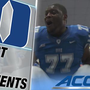 Laken Tomlinson Pumps Up the Blue Devils Like You've Never Seen Before | ACC Must See Moment