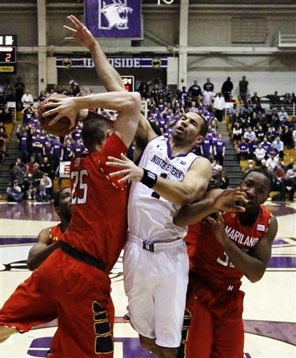 Maryland runs away from Northwestern 77-57