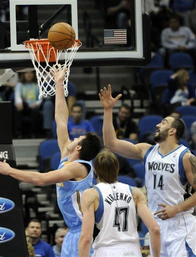 Nuggets spoil Love's surprising debut for Wolves