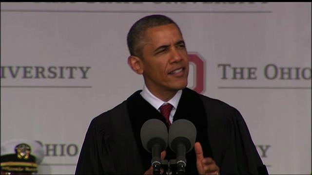 Obama delivers commencement speech at The Ohio State University