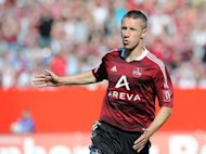 Nuremberg's midfielder Marek Mintal is pictured in action in 2011. Reigning Bundesliga champions and German Cup holders Borussia Dortmund fell to their second consecutive pre-season loss on Saturday when they went down 4-2 at Nuremberg