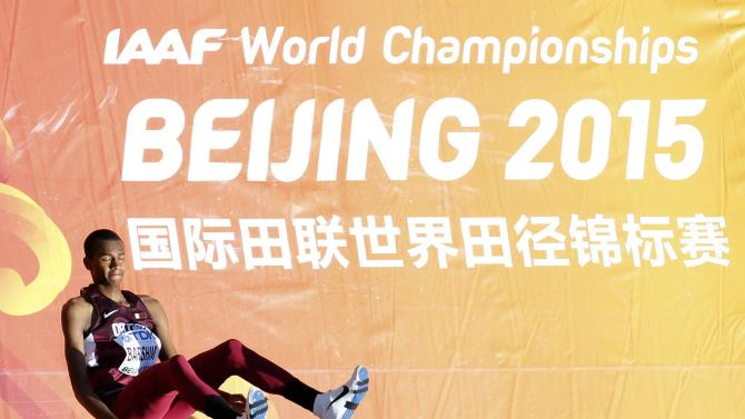 Barshim of Qatar competes in men's high jump qualification at 15th IAAF World Championships in Beijing