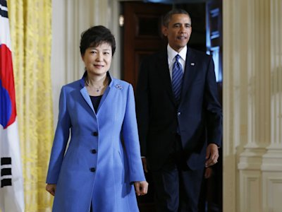 Park Geun-hye and Obama