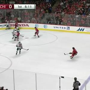 Dubnyk robs Toews with desperation pad save