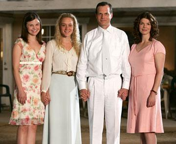 Ginnifer Goodwin, Chloe Sevigny, Bill Paxton and Jeanne Tripplehorn HBO's 'Big Love'