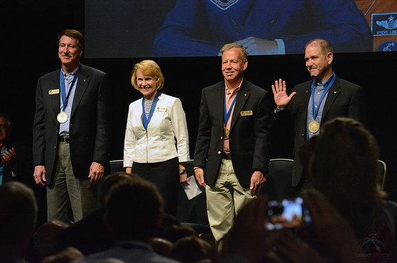 Four Space Shuttle Veterans Join Astronaut Hall of Fame as Heroes