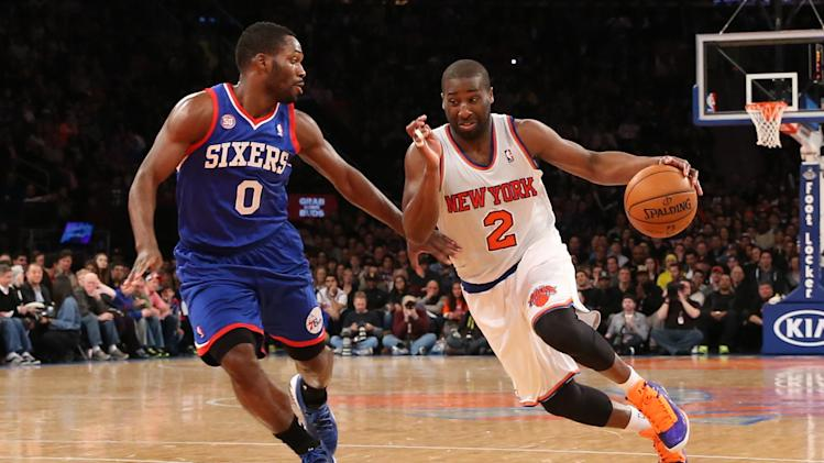 NBA: Philadelphia 76ers at New York Knicks