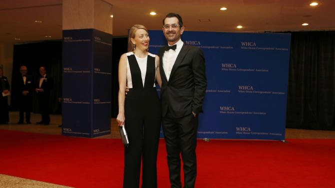 Actor Ty Burrell and his wife Holly arrive for the annual White House Correspondents' Association dinner in Washington