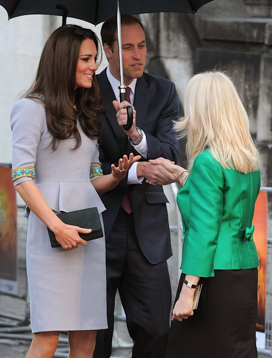 Prince William, Duke of Cambridge and Kate Middleton aka Catherine, Duchess of Cambridge arriving at the premiere of 'African Cats', held at the BFI.London, England - 25.04.12 Mandatory Credit