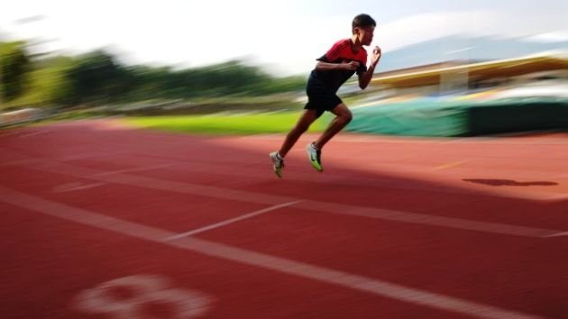 Choo Leng Hin training for his big race at the ASEAN Para Games. (Photo: SDSC / Lawrence Cai)