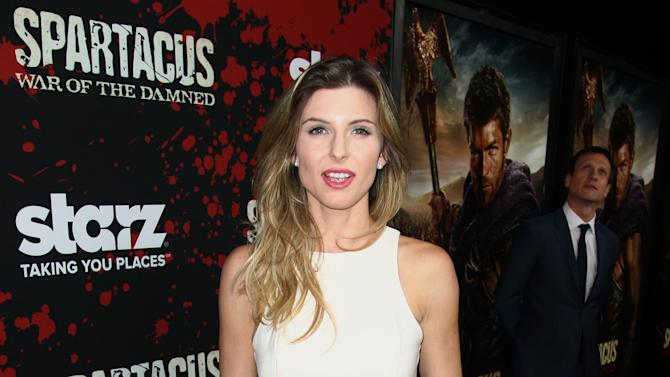 """Viva Bianca arrives at the premiere of """"Spartacus: War of the Damned"""" on Tuesday, Jan. 22, 2013 in Los Angeles. """"Spartacus: War of the Damned"""" premieres Friday, Jan. 25 at 9PM on STARZ. (Photo by Matt Sayles/Invision for STARZ/AP Images)"""