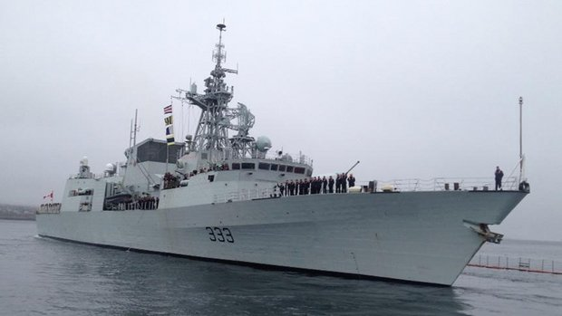 HMCS Toronto departs Halifax for the Arabian Sea in an international security mission.
