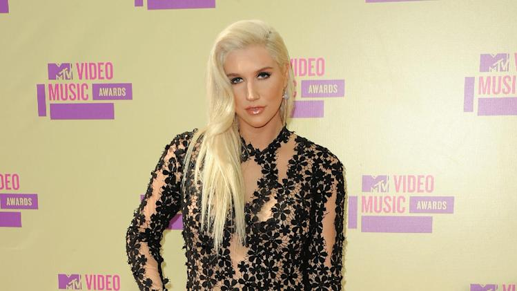 """FILE - In this Sept. 6, 2012 file photo, Ke$ha attends the MTV Video Music Awards, in Los Angeles.  MTV announced late Tuesday, Jan. 29, 2013, that the pop singer will debut a documentary series, """"Ke$ha: My Crazy Beautiful Life,"""" in April. (Photo by Jordan Strauss/Invision/AP, File)"""