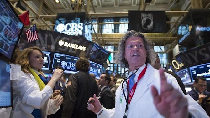 Specialist trader Donald Civitanova works on the floor of the New York Stock Exchange