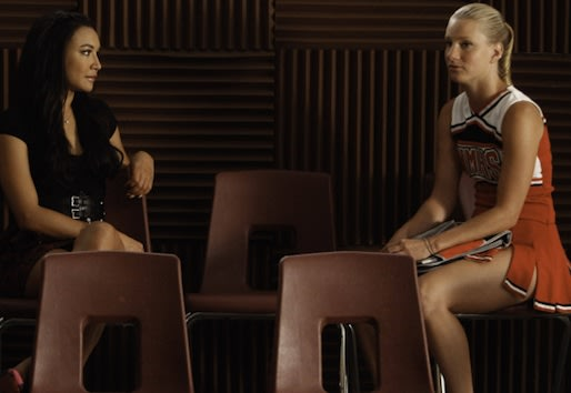 Glee Scoop: Heather Morris Says Brittana Is Done; Plus: Who's Blaine's New 'Friend'?