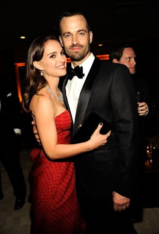 Natalie Portman y Benjamin Millipied via WireImage