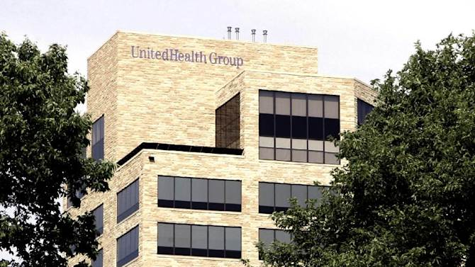 FILE - This July 16, 2007, file photo, shows the headquarters of UnitedHealth Group Inc. in Minnetonka, Minn. UnitedHealth Group Inc. said Tuesday, Oct. 16, 2012, that its third-quarter earnings jumped 23 percent, thanks in part to Medicare and Medicaid business growth that helped the nation's largest health insurer beat analyst expectations. (AP Photo/Jim Mone, File)