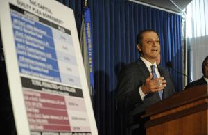 U.S. Attorney Preet Bharara speaks at a press conference, …