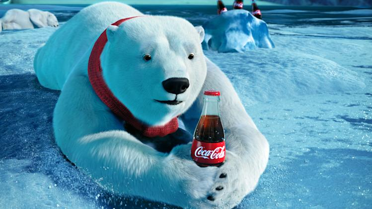 "This video still provided by the Coca-Cola Co. and Wieden + Kennedy, shows the polar bears advertisement the ""Catch,"" that will be aired during Super Bowl XLVI, Sunday, Feb. 5, 2012. (AP Photo/Coca-Cola Co.)"