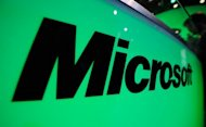 The Microsoft logo is seen at the XBOX 360 booth during the Electronic Entertainment Expo on June 7, 2011 in Los Angeles. Microsoft said Monday Windows 8 will be available to consumers in late October as part of the software giant's effort to ramp up its operating system for a variety of devices