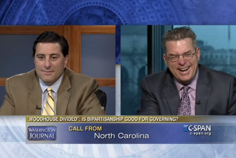 The best C-SPAN caller of all time is the pundits' mom