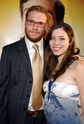 Premiere: Seth Rogen and guest at the Hollywood premiere of Universal Pictures' The 40-Year-Old Virgin - 8/11/2005