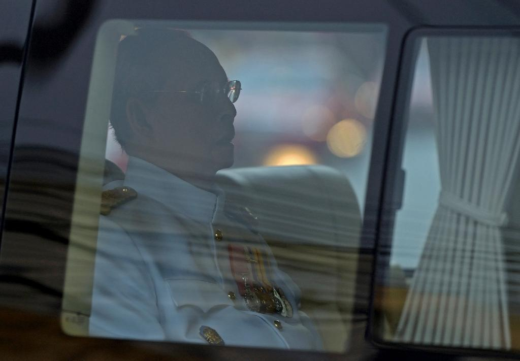 Ailing Thai king makes rare public appearance