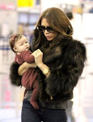 She's just nine months old – but Harper Beckham's hard work perfecting that pout is already paying off, since she was offered her first modelling contract this week. (We know.)