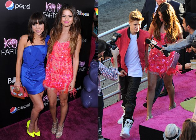 Selena Gomez, Carly Rae Jepsen, Justin Bieber, Katy Perry Part of Me premiere