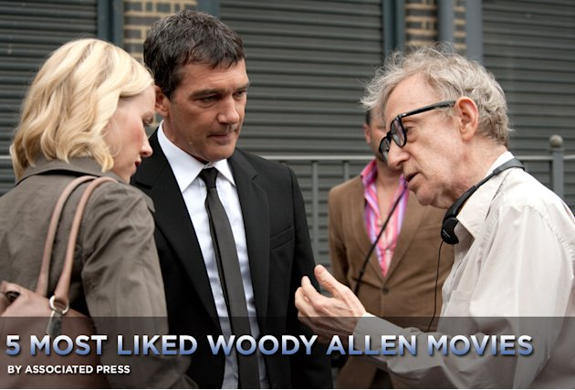 5 Most Liked Woody Allen Films Title Card