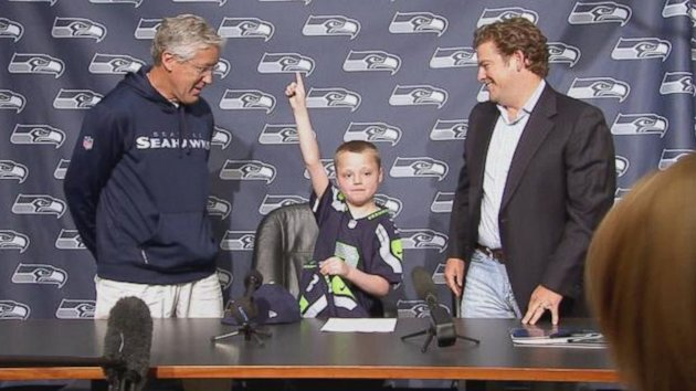 Super Bowl-Bound Seahawks Make One Child's Wish Come True (ABC News)