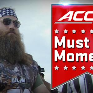 Duck Dynasty's Willie Robertson Flips Coin at College Football Game | ACC Must See Moment