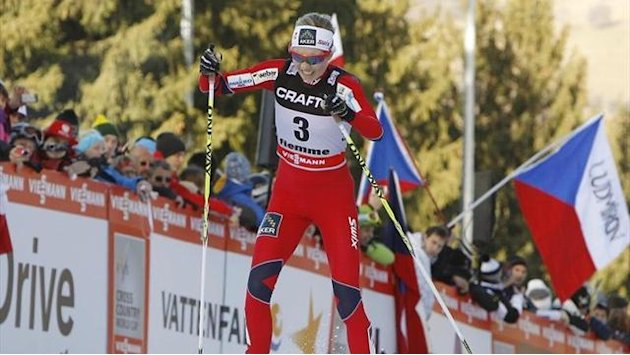 Cross-Country Skiing - Steira wins skiathlon at Olympic test event in Sochi