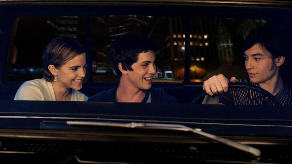 "This image released by Summit Entertainment shows, from left, Emma Watson, Logan Lerman, and Ezra Miller in a scene from ""The Perks of Being a Wallflower."" (AP Photo/Summit Entertainment, John Bramley)"
