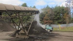 Contaminated soil from excavated underground petroleum storage tank sites is being processed and cleaned at a processing plant in Concord