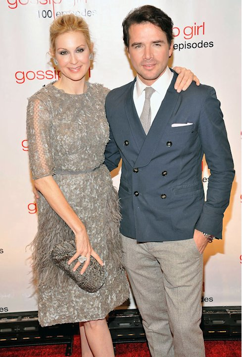 Kelly Rutherford and Matthew Settle attend the &quot;Gossip Girl&quot; 100 episode celebration at Cipriani Wall Street on November 19, 2011 in New York City. 