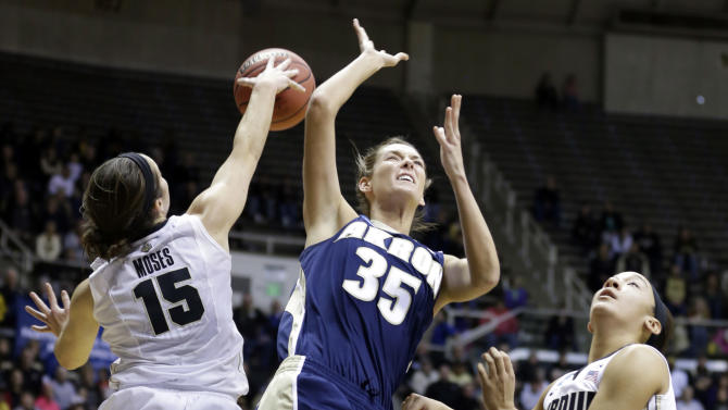 Purdue routs Akron 84-55 in women's tourney