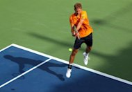Germany&#39;s Florian Mayer, pictured in action in August 2012, saw off Australia&#39;s Lleyton Hewitt on Friday to level their Davis Cup World Group play-off match 1-1 after teenager Bernard Tomic&#39;s earlier win over German Cedrik-Marcel Stebe