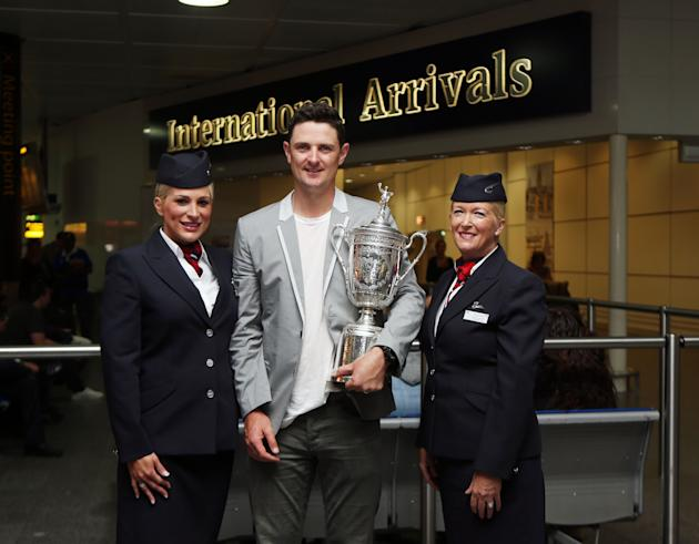 Golf - Justin Rose Arrives Back - Gatwick Airport