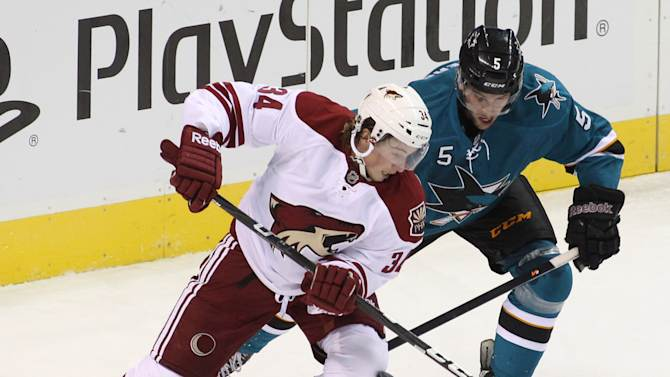 Couture leads Sharks to 3-2 OT win over Coyotes