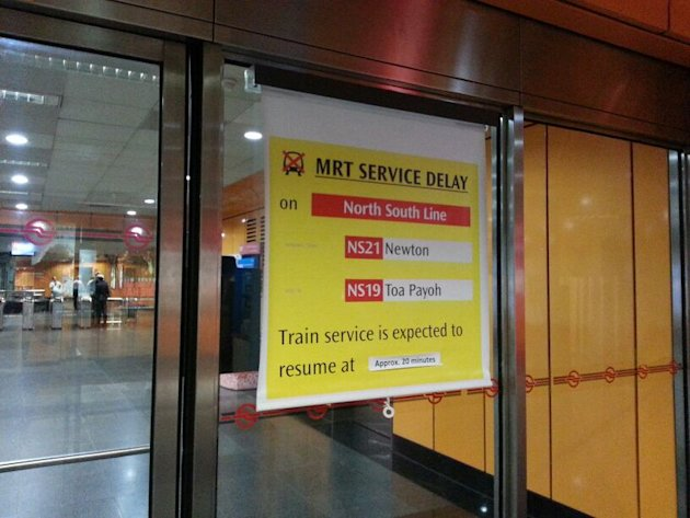 Feeder buses were deployed at MRT stations along the North-South Line to ferry affected commuters.