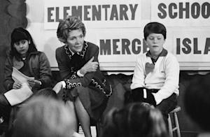 FILE - In this Feb. 14, 1984 file photo, first lady…