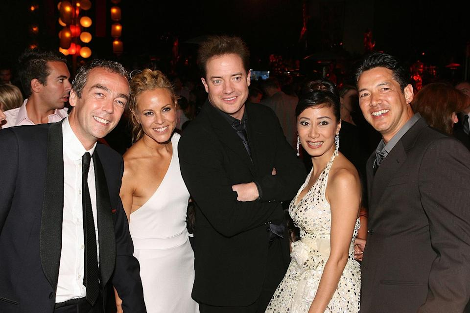 The Mummy Tomb of the Dragon Emperor Premiere 2008 John Hannah Maria Bello Brendan Fraser Russell Wong
