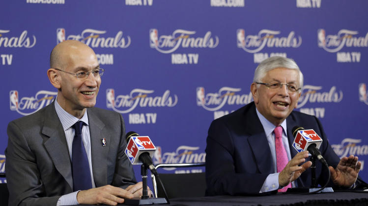 Stern overseeing his last NBA Finals