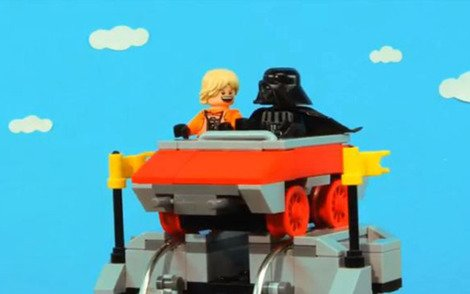 Luke and Vader enjoy a rollercoaster ride