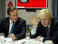 Tainted by association? Boris shrinks from Cameron's touch