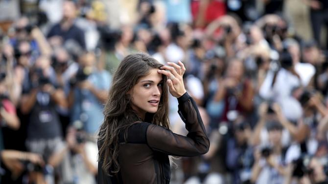 Italian model and actress Sednaoui poses for photographers a day before the 72nd Venice Film Festival in Venice